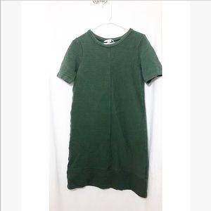 Boden • green rigged short sleeve dress